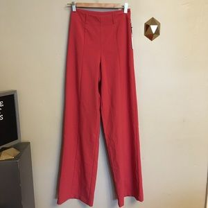 NWT Lovers & Friends Angeli Wide Leg Pants Red XS